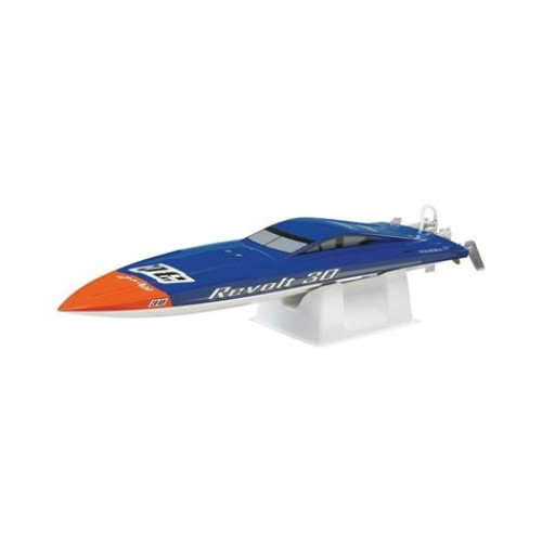 AquaCraft Revolt 30 Brushless RTR FE Deep Vee Boat (Blue/White)