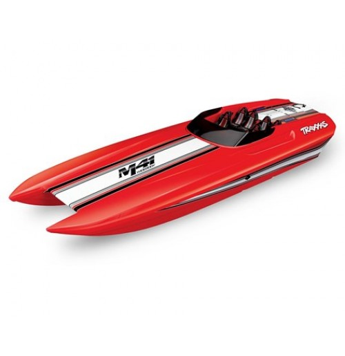 "Traxxas DCB M41 Widebody 40"" Catamaran High Performance 6S Race Boat (Red)"