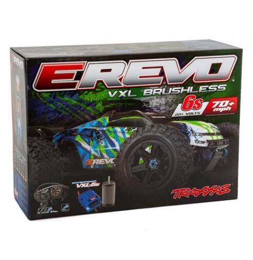Traxxas E-Revo VXL 2 0 RTR 4WD Electric Monster Truck (Green)