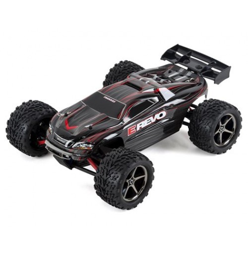 Traxxas E-Revo 1/16 4WD Brushed RTR Truck (Black)