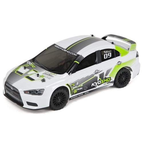 Kyosho EP Fazer VE Lancer ReadySet 1/10 Electric Touring Car w/Syncro 2.4GHz Radio (Green)