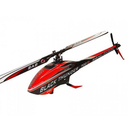 "SAB Goblin Black Thunder ""T Line"" 700 Flybarless Helicopter Kit (Red)"